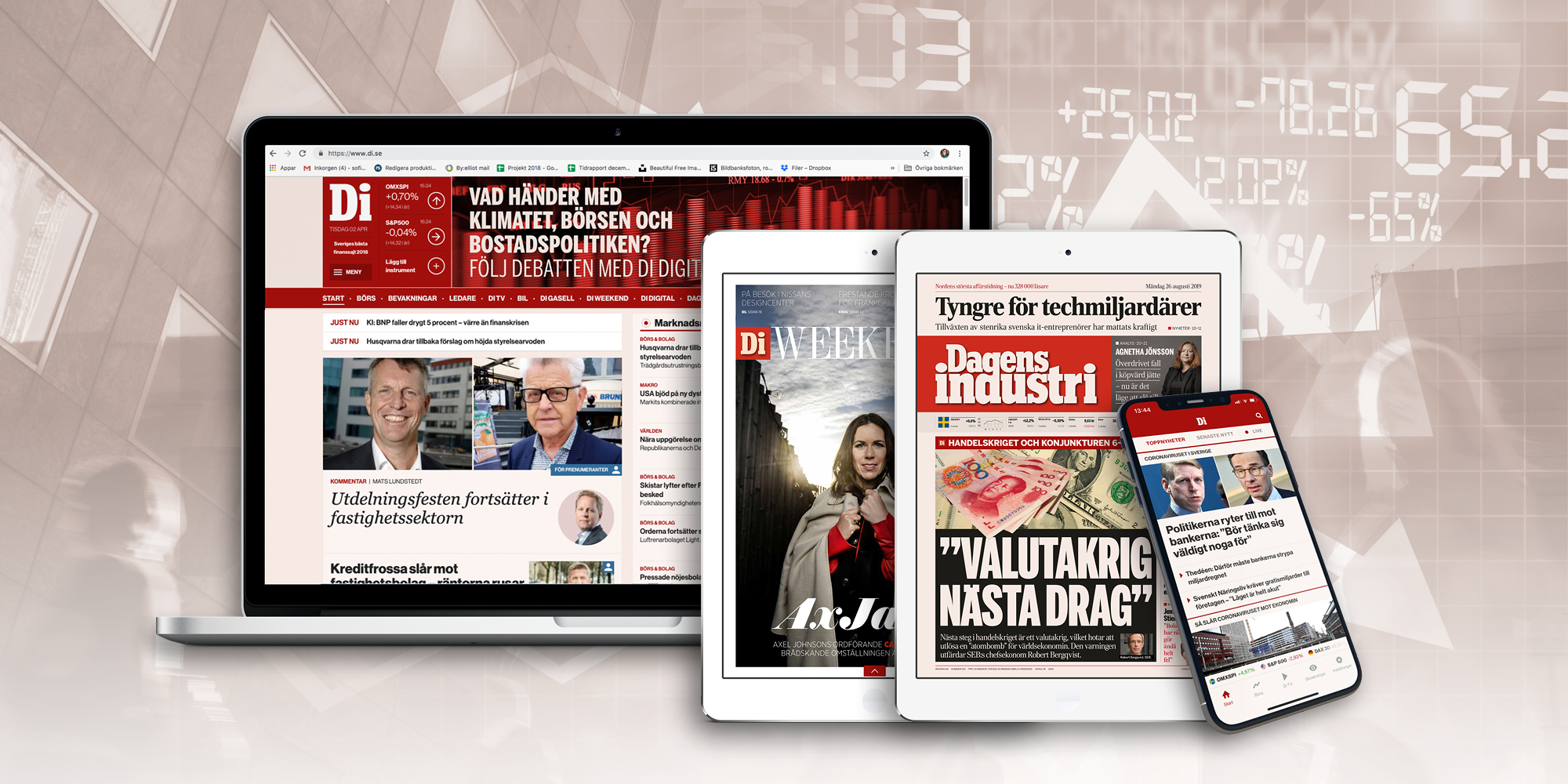 Läs Dagens Industri digitalt